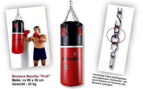 Boxsack Bandito 90cm x 30cm Kampfsport Profi Bockssack Box Sack Birne Sandsäcke Punchingbälle Punchingsäcke Trainingsboxsack