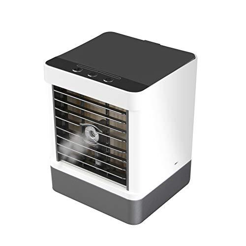 Mini Klimaanlage, 3 In 1 Mini Mobile Klimageräte Persönliche Luftkühler, Luftbefeuchter, Luftreiniger USB Klimagerät mit 3 Geschwindigkeiten für Schlafzimmer Wohnzimmer Büro Reise (Schwarz)