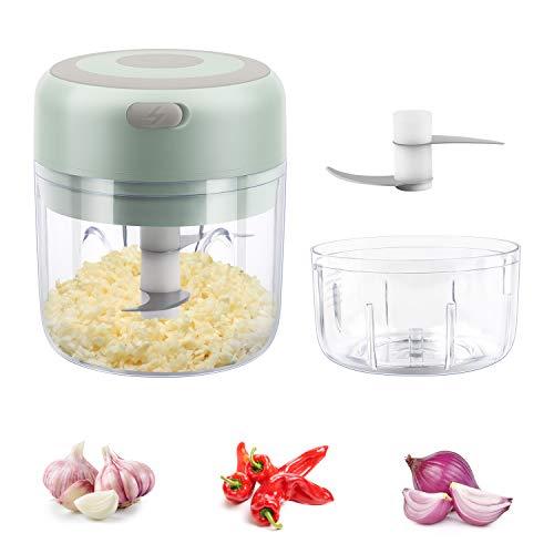 Kangmeile Elektrisch Zerkleinerer, Drahtloser elektrischer Mini-Lebensmittel-Chopper Gemüse-Obst-Knoblauch-Mixer-Prozessor Mini elektrische Knoblauchpresse Mincer Onion Ginger Chopper