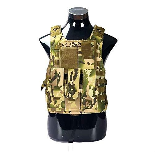 LUOSI Chaleco Táctico Airsoft táctico Militar del Chaleco Combate Asalto Portador de la Placa Chaleco táctico 7 Colores Exteriores CS Ropa de Caza Chaleco (Color : CP Camo)