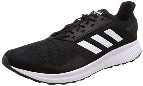 adidas mens Duramo 9 Running Shoe, Black/White, 6.5 US