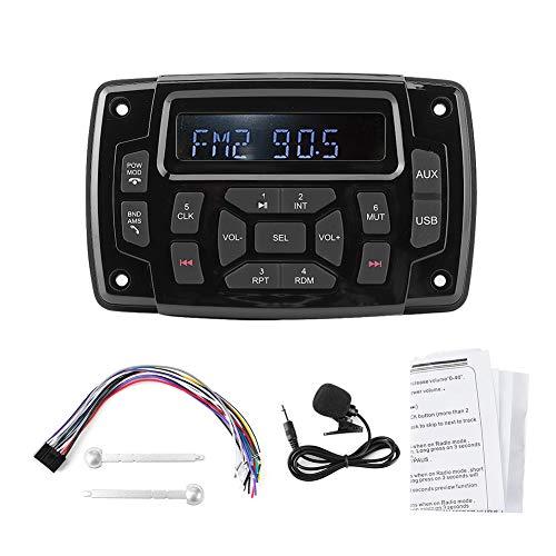 IP66 wasserdichter MP3-Player, FM-Empfänger, hochwertiges Bootsradio, USB-Slot-MP3-Player, FM-Empfangsauto für Musiksendungen Marineboot