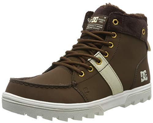 DC Shoes Herren Woodland - Sherpa Winter Boots for Men Schneestiefel, Chocolate Brown, 43 EU