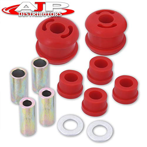 AJP Distributors Performance Upgrade Suspension 4-Piece Front Lower Control Arm LCA Solid Polyurethane Bushing Kit Bushings Red For Forester SH Impreza WRX Legacy Outback 04 05 06 07 08 09 10 11 12 13