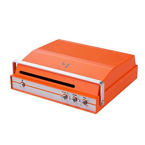 Reproductor de registro portátil con ranura para vinilo de 7 pulgadas 2 velocidades (33/45 RPM) Tocadiscos BT Altavoz estéreo incorporado Batería recargable con control de volumen de tono