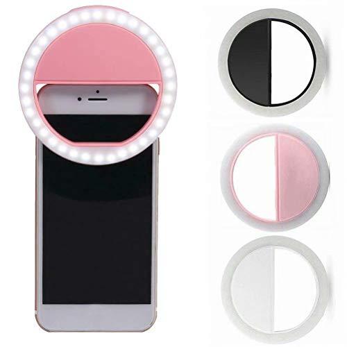 Big Bargain Store Tragbare Selfie LED Telefon Ring Flash Fill Licht Clip Kamera für iPhone Samsung Black