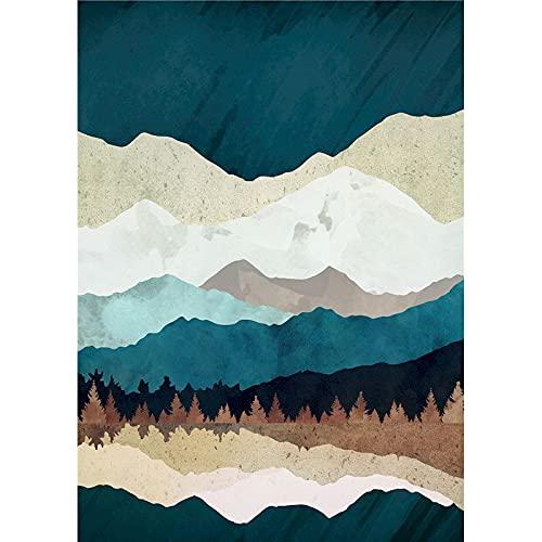 Vfvozr Principiantes de Pintura Digital Paisaje para Adultos 4 Pinturas con Pintura Digital Kit de Pintura acrílica de 24 Colores 30x40cm Sin Marco