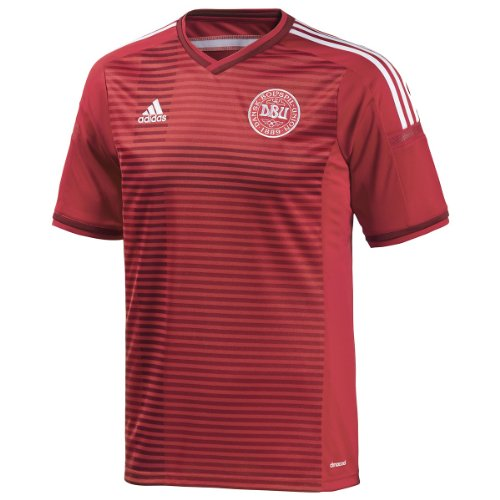 adidas New Men's 2014 Denmark Soccer Jersey Power Red/Red X-Large