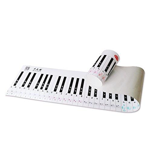 Ammoon pianotoetsenbord pianoschool 88 key key keyboard piano muziek knoppen sticker vinger simulatie praktijk gids internationale versie leerkracht instructie diagram voor beginners studenten.