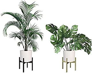AWNIC Metal Mid Century Modern Plant Stand Golden Indoor Plant Pot Stand 12in(H) X12in(Ø) Load Capacity 187Ib Luxury Style