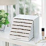 Immagine 1 songmics scatola portagioielli in legno