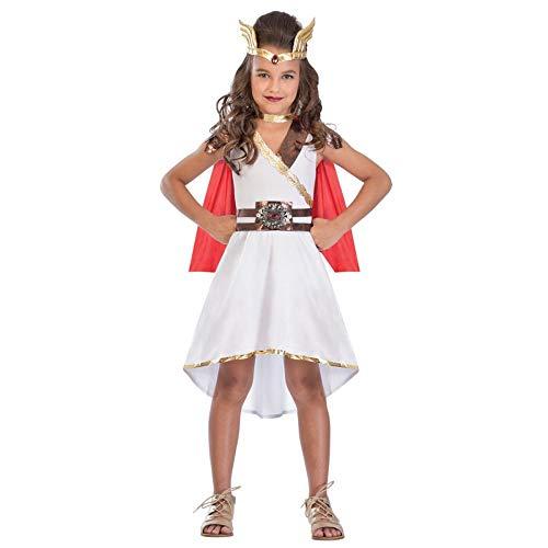 Generique - Göttinnen Kostüm für Mâdchen weiß-rot - 128/140 (8-10 Jahre)