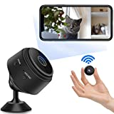 Mini Camera Full HD 1080P,Micro Camera de Surveillance WiFi,Caméra Video Surveillance Voiture sans Fil,Camera Infrarouge Vision Nocturne,Enregistreur Jour et Nuit Intérieure/Extérieure