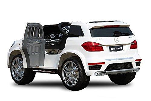 RC Auto kaufen Kinderauto Bild 5: Kaufexpress Mercedes Benz GL63 AMG Jeep SUV Lizenz Kinderfahrzeug mit 2X 35W Motor Kinderauto Elektroauto Fernbedienung MP3 Anschluss in Weiß*