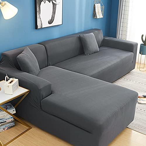 WXQY L-förmige Ecke elastische Sofa Schutzhülle Kombination Haustierschutz Sofa Schutzhülle rutschfeste Sofabezug A5 1-Sitzer