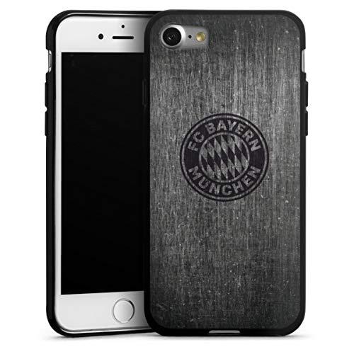 DeinDesign Silikon Hülle kompatibel mit Apple iPhone 8 Case schwarz Handyhülle Metallic Look FCB FC Bayern München