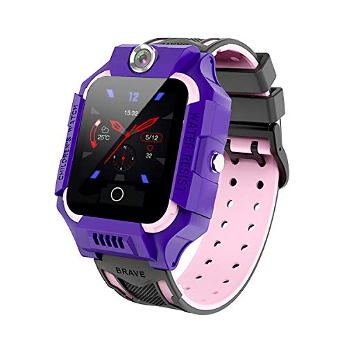 Sebay Bluetooth Smart Watch for Android, Kids Smart Watches Boys/Girls, Men Smart Watch Spy Watch, Pedometer Watch GPS Watch for Kids, Smart Watch for Answering Calls, Step Counter (Purple)