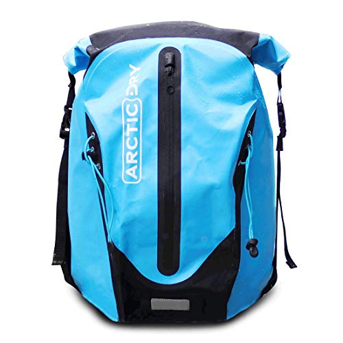 ArcticDry 100% Waterproof 30L Heavy Duty Dry Bag Backpack - UPDATED DESIGN - Perfect for Boating, Kayaking, Canoeing, Sailing, Watersports, Snowboarding, Skiing, Hiking, Trekking, SUP & more!