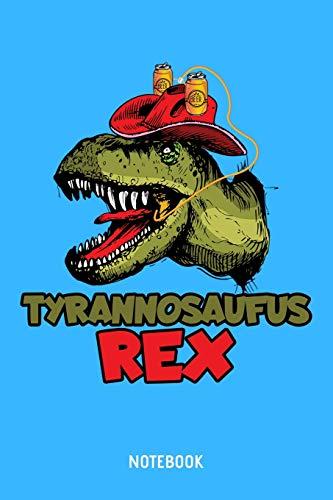 Tyrannosaufus Rex Notebook: A5 (Handtaschenformat) Punkteraster Brauerei Notizheft oder Bier Journal - Dinosaurier Tagebuch oder T-Rex Buch als Notizbuch für Männer und Frauen