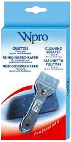 Wpro ACG009 Grattoir Métallique pour Plaque Vitro-Céramique + 1 Lame