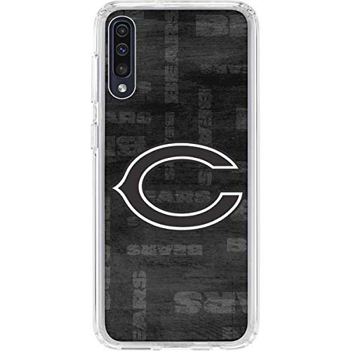 Skinit Clear Phone Case Compatible with Samsung Galaxy A50 - Officially Licensed NFL Chicago Bears Black & White Design