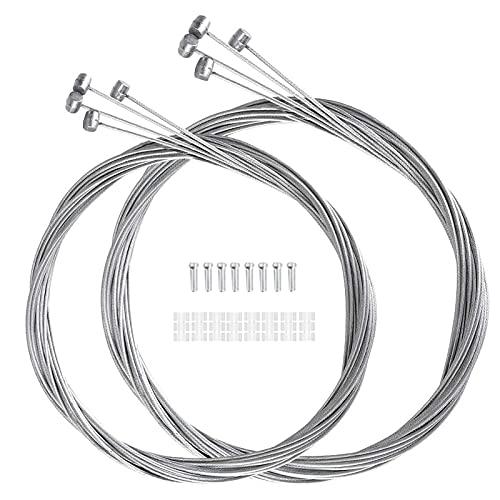 12 Piezas de Cables de Freno de Bicicleta, Cable de Bicicleta de Montaña,Alambre de Cable de Engranaje y Kit de Abrazaderas de Extremos de Cable,para Bicicletas de MTB y Bicicletas de Carretera