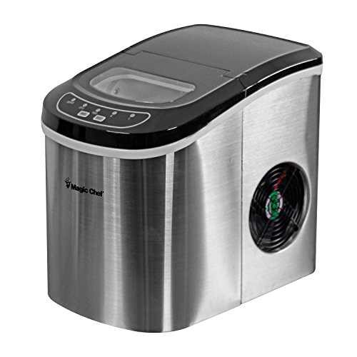 Magic Chef MCIM22ST 27 lb Ice Maker Stainless Steel
