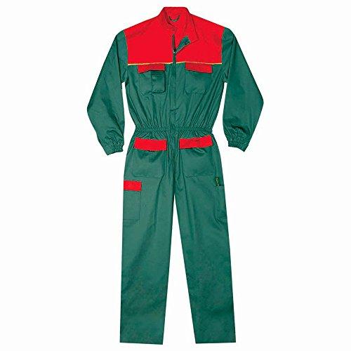 Tuta in poliestere e cotone colore verde e rosso