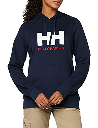 Helly Hansen W HH Logo Hoodie Hoodie, Mujer, Navy, L