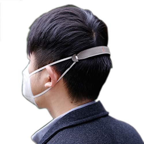 Schapenvacht Mask Comfort Strap, Mask Ear Riemhaakje voor het verlichten lange tijd dragen Ears' Pressure & Pain voor volwassenen en kinderen, 2 stuks,Gray fiber