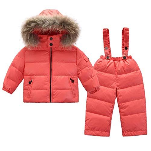 xuzheng Kinderkleidung 2 Stücke Anzüge Schneeanzug Daunenjacke für Mädchen Mantel Kinderkleidung für Jungen Parka Winter Schneebekleidung