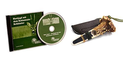 K & S Rottumtaler Wildlocker Set Rehblatter und Blattjagd CD mit Mütze (Set mit Rehblatter Typ Rose)