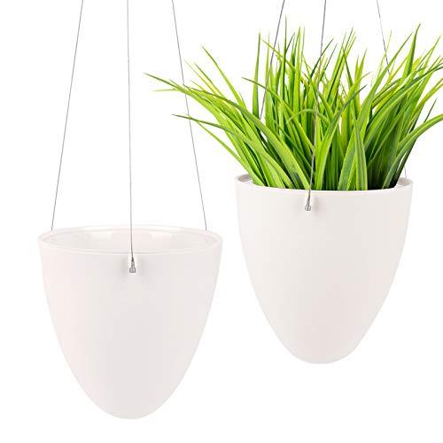 Ulikey 2Pcs Colgante de Plantas Macetas para Plantas Colgantes, Maceta de Colgante de Plástico, Colgante de Plantas, Suculento Aire Planta Maceta para Hogar, Exterior, Balcón y Jardín (2pcs)