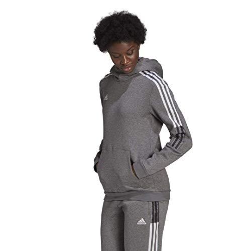 adidas womens Tiro 21 Sweat Hoodie Grey Melange Small