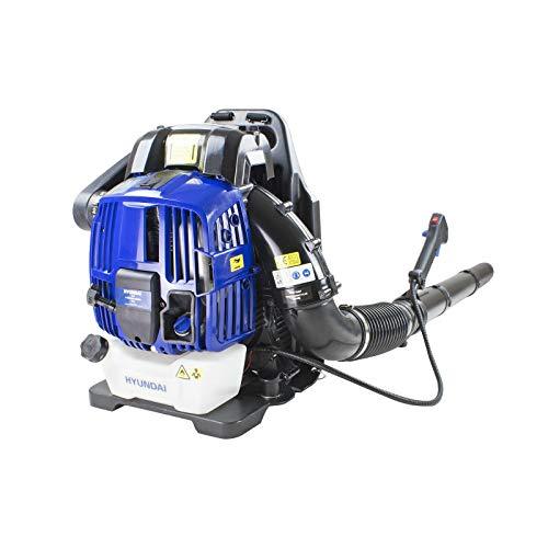 Hyundai HY4B76, 76cc 4-Stroke Engine, 3 Year Warranty, Petrol Leaf Blower, Backpack Leafblower, High Power 225km/h Air Speed, Anti Vibration, Home Improvement, Blue