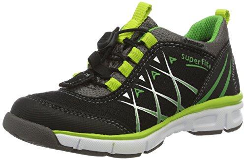 Superfit Lumis Jungen Sneakers, Schwarz (Schwarz Kombi 02), 33 EU