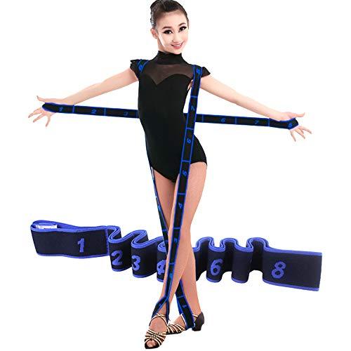JJunLiM Bandas de bucles de Ejercicio Bandas de Entrenamiento de Danza Latina 15-20 kg Pilates Yoga Bandas de Resistencia al Estiramiento Bandas de Gimnasia elásticas para Ejercicios(80cm Blue)