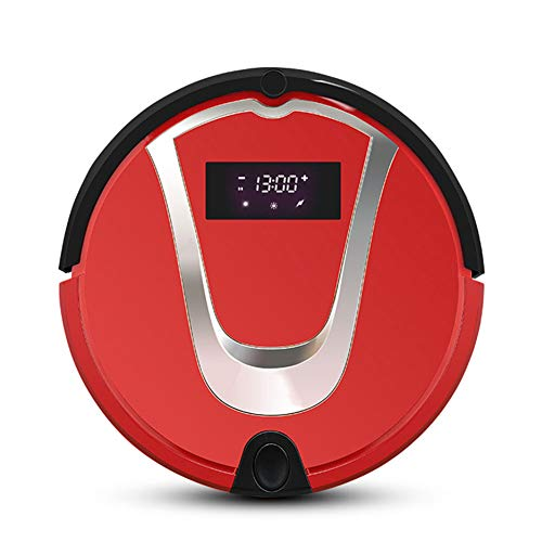 Fantastic Prices! Lazy Sweeping Cleaner Machine Vacuum Cleaner Robotic Vacuum Mop Sweep 3 in 1 Portable Self-Charging Cleaner for Hard Floors&Carpet Run& Pet Hair Cleaner,Red