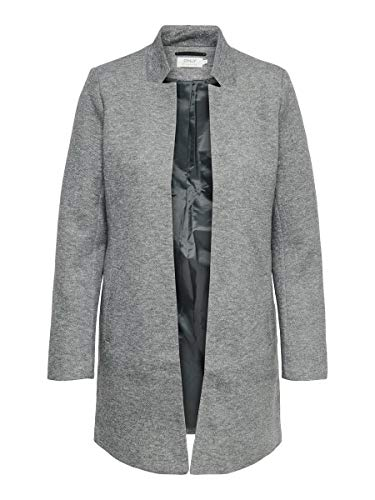 ONLY Damen Blazer Einfarbiger MLight Grey Melange