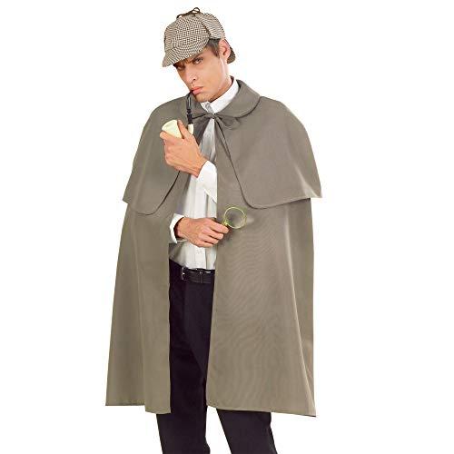 Widmann 3358H - Umhang mit Pelerine Detektiv, Länge circa 100 cm, Mottoparty, Karneval