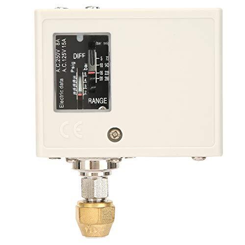 Interruptor de control de presión confiable, acero inoxidable 24V ~ 380V, níquel chapado en hierro, plástico 2 5