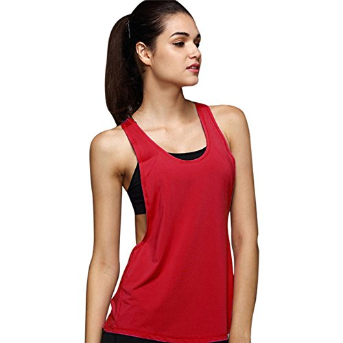 Débardeurs de Sport Femmes, Manadlian Gilets de Sport Femme Été en Vrac T-Shirts et Tops Vest Fitness Yoga Sport Gym Chemisier Coton Respirant