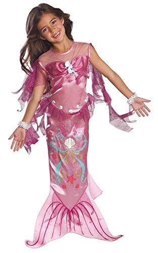 Rubies - Disfraz de Sirena Oficial para niña, Color Rosa, Talla M