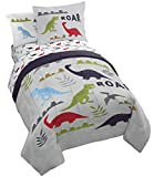 Jay Franco Trend Collector Dinosaur Roar 5 Piece Twin Bed Set - Includes Comforter & Sheet Set - Super Soft Fade Resistant Microfiber Bedding