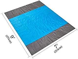 Sinrextraonry Sand Free Beach Blanket, Extra Large Oversized 10X 9 for 7 Adults Beach Mat, Big Compact Sand Proof Mat Quic...