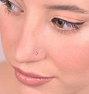 Silver Nose Studs For Women Men 20g Nose Ring Hoop Tiny Barely There