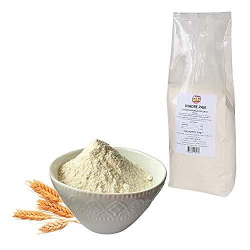 Aperisnack® - MADREPAN 1 kg Lievito Madre Essiccato 100% naturale in polvere Ad alta digeribilità, Lievito pane, Lievito per Pizza Panificazione e Pasticceria in Busta 1kg.