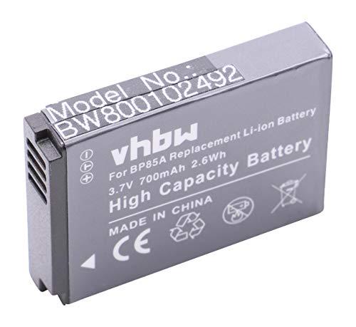 vhbw Li-Ion Akku 700mAh (3.7V) für Kamera Samsung PL210, SH100, ST200, ST200F, WB210 wie BP85a, BP-85a,IA-BP85a, EA-BP85a.