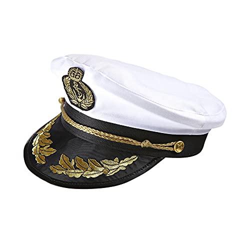 Widmann Capitano Lusso Cappello Costume Party E Carnevale Giocattolo 682, Multicolore, Adulto, 8003558018604