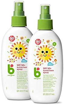 2-Pack Babyganics Sunscreen Spray SPF 50 6 Fl Oz